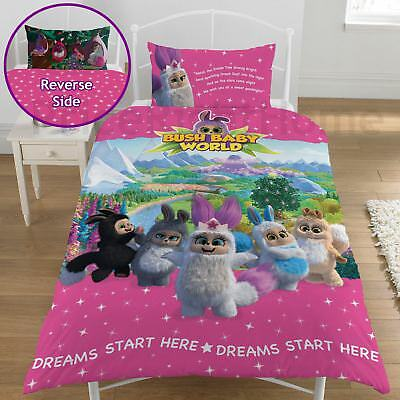 Bush Baby World Sparkle Single Duvet Cover Set Childrens - 2 In 1 Design