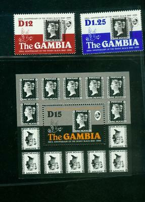 Gambia: 1031/32 ** + Bl 93 **