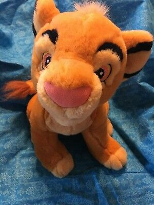 "Disney Store The Lion King YOUNG SIMBA 13"" Plush Stuffed Animal Toy"