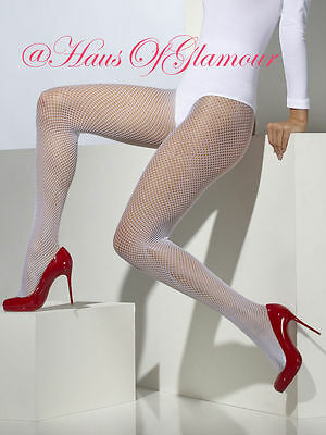 Fishnet Dance Tights Luxury Pantyhose in Natural Tan, Black, Red, Pink & White