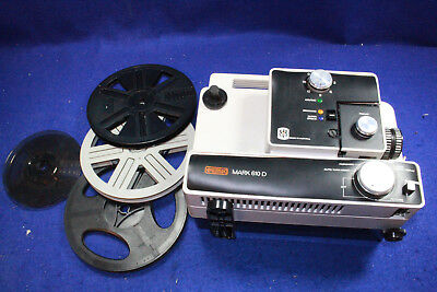 Eumig Mark 610D Dual Super 8 & Regular 8Mm Film Movie Projector W/ Case