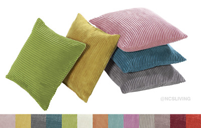 """Jumbo Thick Cord Chenille Soft Quality Square 17"""" Filled Scatter Cushion Covers"""