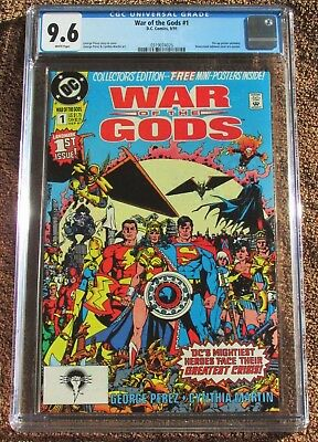WAR of the GODS #1 CGC 9.6 - w/poster - WONDER WOMAN on COVER