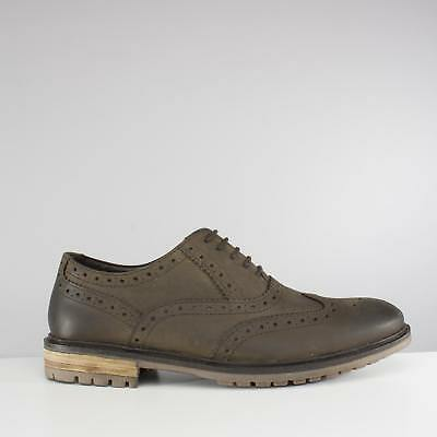 0870ab176825d Silver Street London CENTRAL Mens Leather Oxford Office Smart Brogue Shoes  Olive