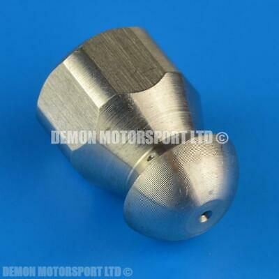 Drain Unblocker Nozzle 1/4 BSP (1 Forward, 3 Rear Jets) for Waste Sewer Pipes