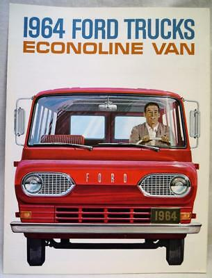 1964 Ford Trucks Division Econoline Van Advertising Sales Brochure Guide Vintage