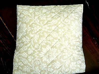 Laura Ashley wattierte Satin Kissenhülle ANNECY beige 40/40cm Herst. Bassetti