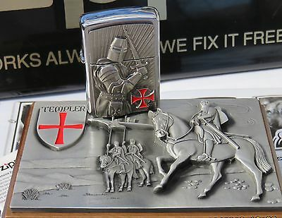 Original ZIPPO Crusader Limited Edition - Rare collectible in wooden Box- NEW