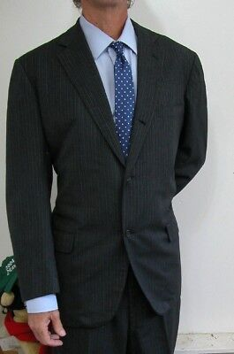Vintage 1950s?  Brooks Brothers 346 2btn Charcoal Black Suit 44 L Long USA made