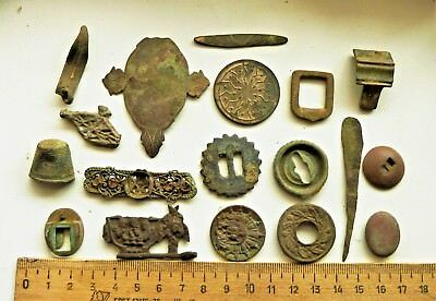 Lot Of Antique Old Bronze detecting finds (s029).