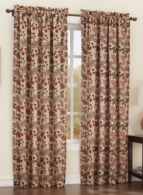 Lichtenberg No 918 Room Darkening Woodland Leaf Curtain Panel Gold 54 X 63