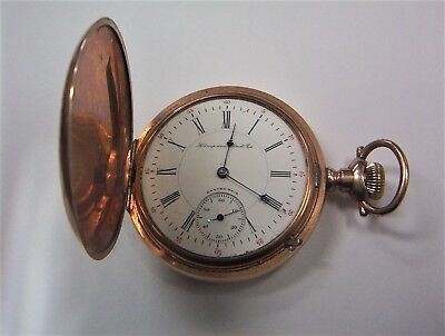 1902 Hampden 16 size 17 jewel Hunting Case Pocket Watch * Model 4 * Wm. McKinley