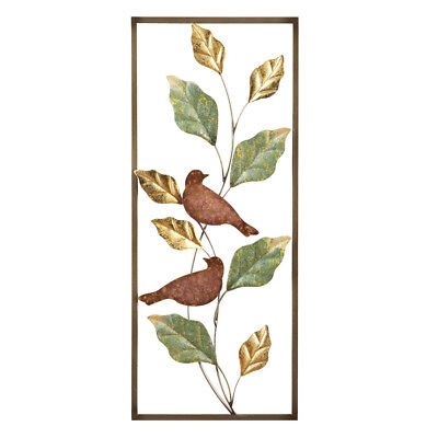 Metal birds and leaves wall decor by collections etc