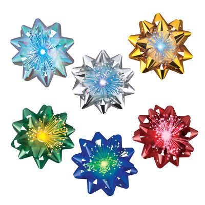 LED Fiber Optic Gift Bows - Set of 6, by Collections Etc