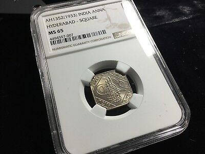 Ngc Ms 65 Hyderabad India Anna 1933 Princely States 39537