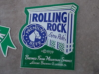 Rolling Rock Extra Pale Premium Beer 1989 Tin Sign Latrobe Brewing Pa. Racehorse
