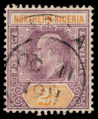 "NORTHERN NIGERIA 21a (SG22a) - King Edward VII ""Keyplate"" 1907 Print (pf94725)"