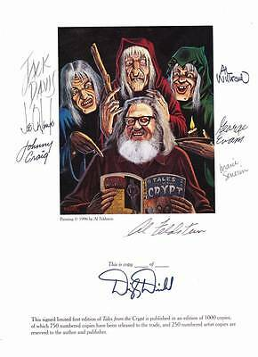 signature plate SIGNED BY 7 EC ARTISTS to TALES FROM THE CRYPT OFFICIAL ARCHIVES