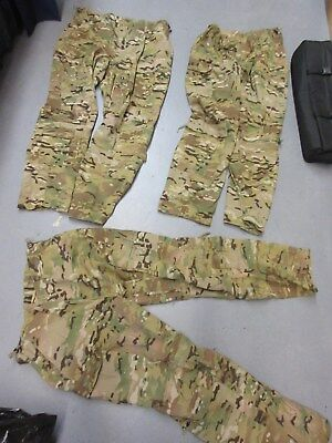 LOT of 3 US ARMY MULTICAM AIRCREW PANTS  X-LARGE REGULAR NOMEX ARAMID USED