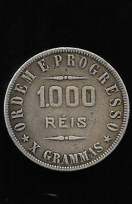1000 REIS in SILVER of the United States of Brazil