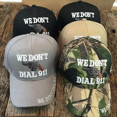 WHOLESALE LOT 5X Assorted WE DON'T DIAL 911 NEW Baseball Caps HAT 711 MIX-5