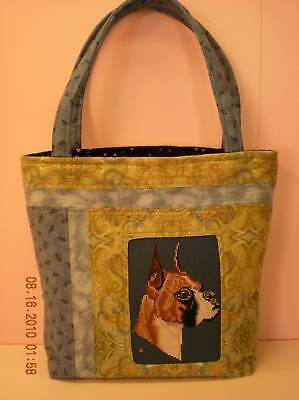 Handmade in Boxer Dog Bag Purse Made in USA  **CC**