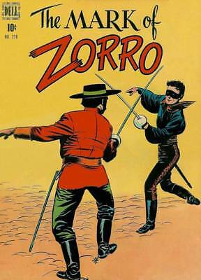 FOUR COLOR #228 G, THE MARK OF ZORRO, Rolled spine, Dell Comics 1949