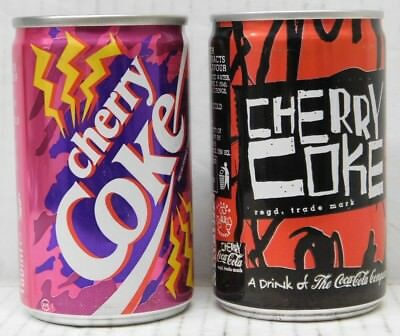 150ml CHERRY COKE CANS (FULL) - Collectible Mini Cans x2