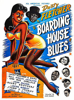 Boarding House Blues 1948, All Colored Cast Movie Poster 11 x 14 Giclee Print
