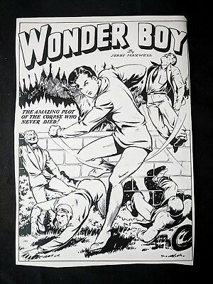 Bomber Comics #4 WONDER BOY Publisher Page Stat 1 Al Feldstein MATT BAKER 1945