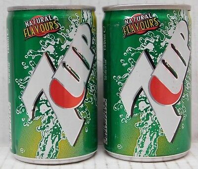 150ml 7-UP (7UP) CANS (FULL) - Collectible Mini Cans x2