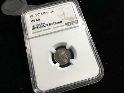Ngc 1910 Ms 65 India 2 Two Annas 40838