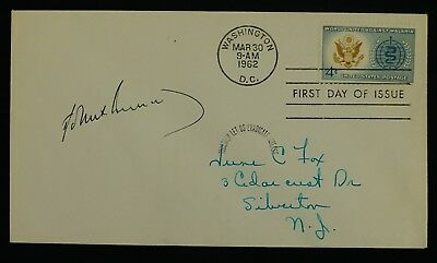 President John F Kennedy JFK Original Signed FDC First Day Cover March 1962