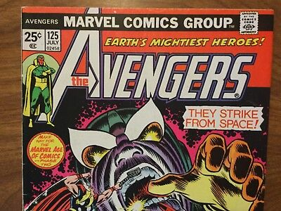 Marvel 1974 The Avengers 125 Thanos Roy Thomas John Buscema Dave Cockrum