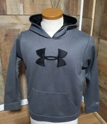 Under Armour STORM Loose Youth Boy Kangaroo Hoodie GRAY Sweatshirt Sz YLG