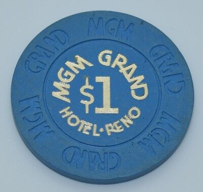 MGM Grand $1 Casino Chip Reno Nevada House Mold Paulson 1978 FREE SHIPPING