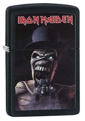 "Zippo ""Iron Maiden"" Black Matte Finish Lighter, ***Extra Flints/Wick***  29576"