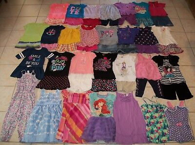 Girls Clothes/Outfits/Dresses Lot of 50 Size 5T-5/6T Summer