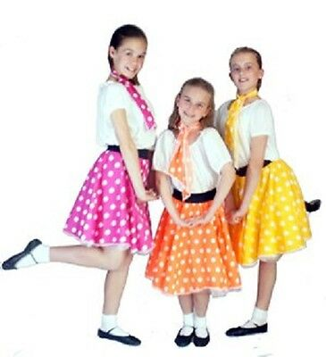 1950's-Dance-Solo-Stage Show-Rock & Roll-SPOTTY JIVE SKIRT Child's sizes