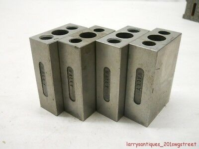 ~Good Used~ Set Of 4 Machinist  / Toolmakers 1 X 2 X 3 Ground & Harden Blocks