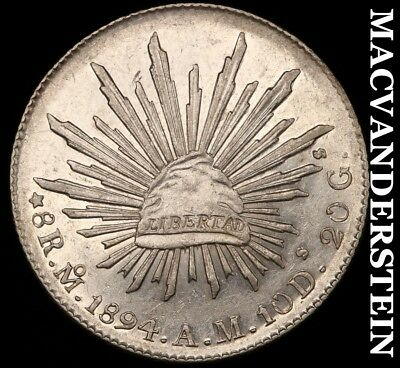 MEXICO: 1894-Mo;AM EIGHT REALES - SCARCE!!  HIGH GRADE!!  #Y7369