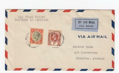 St. Lucia: 1st airmail to Jamaica (PAA, 1930)