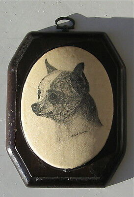 Vintage Chihuahua Plaque Signed Earl Sherwin