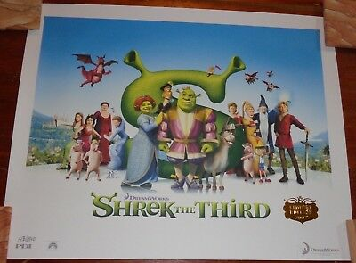 EJ087 DreamWorks Shrek The Third 2007 Limited Edition Numbered Print Poster NEW