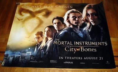 The Mortal Instruments City of Bones 5FT subway MOVIE POSTER Lily Collins 2013