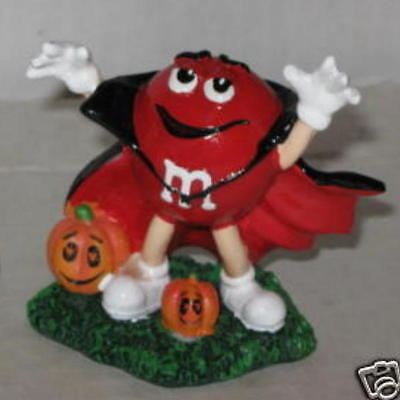 """M&M's Dracula Halloween Resin Figurine (Red) Approx 3"""""""