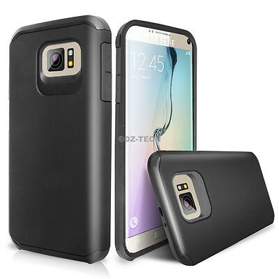 For Samsung Galaxy S6 Edge / Plus Armor ShockProof Rubber Protective Phone Case