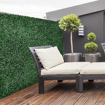 """12pc 20""""x 20"""" Artificial Boxwood Hedge Mat Plant Panels Greenery Walls Outdoor"""