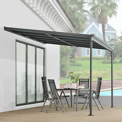 verasol alu terrassen berdachung anlehn carport terrassendach berdachung dach eur 898 00. Black Bedroom Furniture Sets. Home Design Ideas