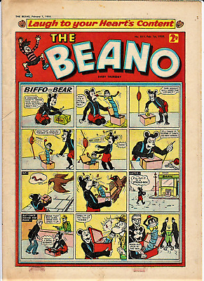 BEANO # 811 February 1st 1958 issue comic The 60th birthday present/gift